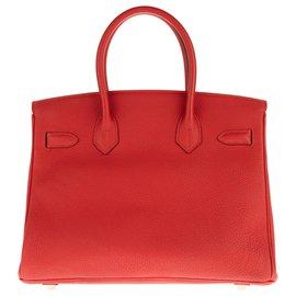 Hermès-Beautiful Hermes Birkin 30 Togo Red, Golden hardware, in excellent condition!-Red