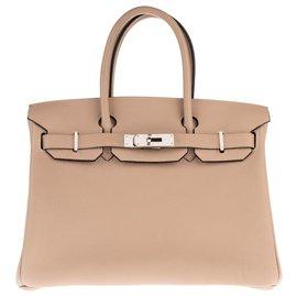 Hermès-Hermès Birkin 30 Togo gris Tourterelle, accastillage Palladié en superbe état !-Gris