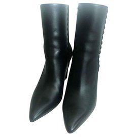 Hermès-Hermes Black ankle boots EU36-Black