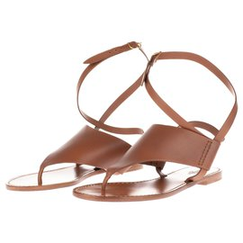 Hermès-Hermes Spartan sandals in brown leather, taille 37, new condition!-Brown