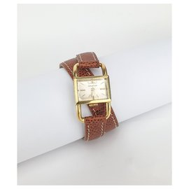 Jaeger Lecoultre-Jaeger Lecoultre Stirrup (footing) In yellow gold-Golden,Cognac
