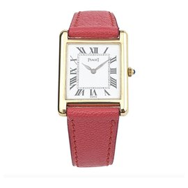 Piaget-Piaget Classic Tank in yellow gold-Pink,Golden,Coral