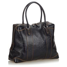 Fendi-Fendi Black Patent Leather Handbag-Black