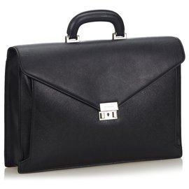 Burberry-Burberry Black Leather Briefcase-Black