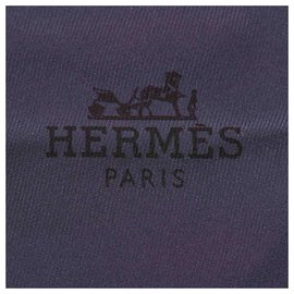 Hermès-Hermes Blue Los Angeles Silk Scarf-Black,Blue,Navy blue