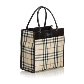 Burberry-Burberry Brown House Check Jacquard Tote Bag-Brown,Multiple colors,Beige