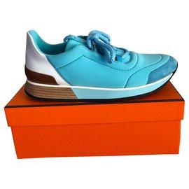 Hermès-Miles Sneakers Bleu ciel 40-Bleu clair