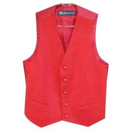 Burberry-Condição vermelha Burberry vintage colete tamanho S perfeito-Vermelho