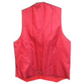 Burberry-red Burberry waistcoat vintage size S perfect condition-Red