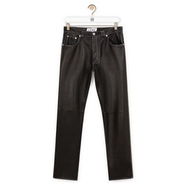 Loewe-Pantalons, leggings-Noir