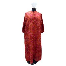 Balmain-Kimono vintage soie Balmain-Multicolore