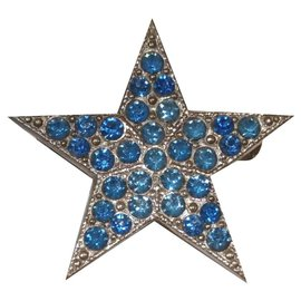 Saint Laurent-Broches et broches-Argenté,Bleu