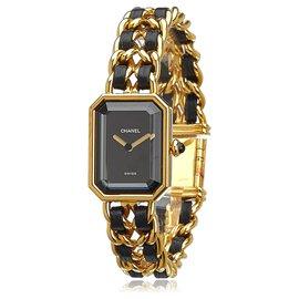 Chanel-Chanel Gold Premiere Chaine Watch-Black,Golden