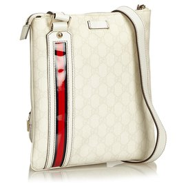 Gucci-Gucci White Sac à bandoulière Guccissima-Blanc,Multicolore,Écru
