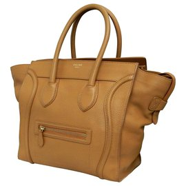 Céline-Céline Mini Luggage-Brown