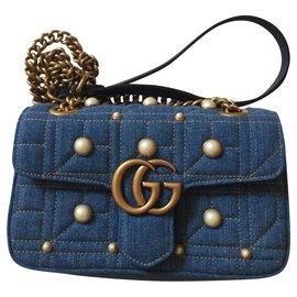 Gucci-Gucci Marmont-Bleu