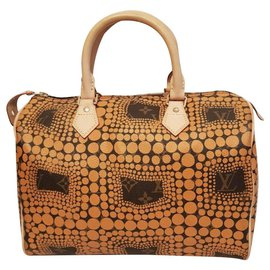Louis Vuitton-Louis Vuitton - Yayoi Kusama Yellow Monogram Town Speedy 30 - Limited Edition / Collector's item-Yellow