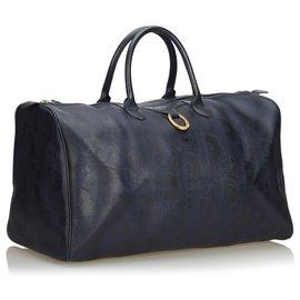 Dior-Dior Black Oblique Duffle Bag-Black