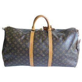 Louis Vuitton-Keepall 55 bandoulière-Marron clair