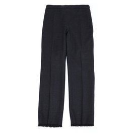 Chanel-GRAY WOOL CASHMERE FR42-Dark grey