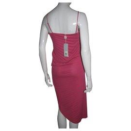 Halston Heritage-Pink asymmetric dress-Pink