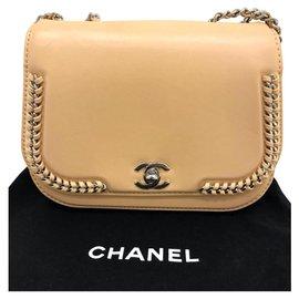 Chanel-Chanel braided beige handbag-Beige