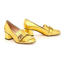 Gucci-MARMONT EU38 GOLD NEW IN BOX-Doré
