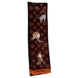 Louis Vuitton-Scarves-Dark brown