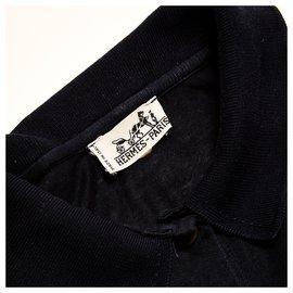 Hermès-navy polo38-Navy blue