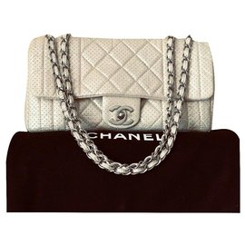 Chanel-zeitlos - Classic CHANEL Flap Bag Medium Limited Edition-Beige