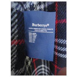 Burberry-Tamanho impermeável Burberry vintage 50 com forro de lã removível-Azul marinho