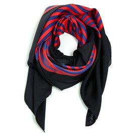 Hermès-BLACK RED BLUE LINKS-Black,Red,Blue