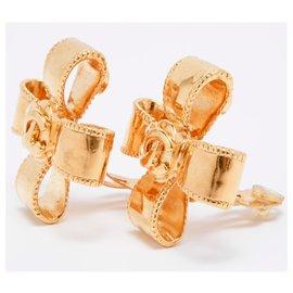 Chanel-CROSS RIBBONS-Golden