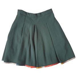 Ostwald Helgason-Green skirt-Dark green