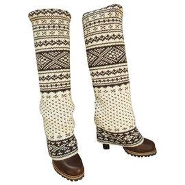 Dolce & Gabbana-winter boots Dolce & Gabbana new condition-Brown