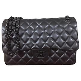 Chanel-Chanel Jumbo so Black classic flap bag-Black