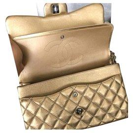 Chanel-Chanel Gold Jumbo flap bag-Golden
