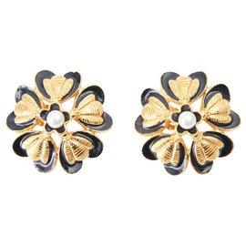 Chanel-FLOWER BEES-Black,Golden