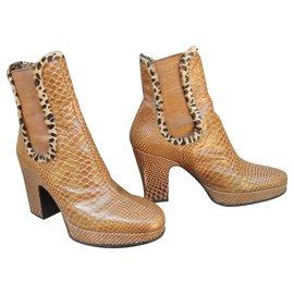Charles Jourdan-Charles Jourdan boots size 39-Caramel
