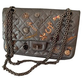 Chanel-2.55 lucky charm-Silvery