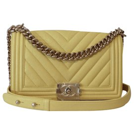 Chanel-Le boy-Yellow