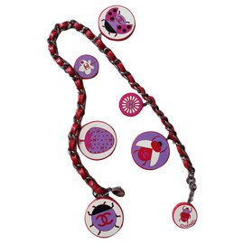 Chanel-Necklaces-Pink,Red