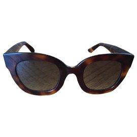Gucci-Des lunettes de soleil-Marron,Doré