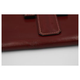 Hermès-Jige-Dark red