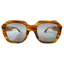 Céline-Oversized rétro sunglasses-Chestnut