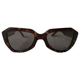 Céline-Rétro styled sunglasses-Brown
