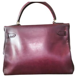 Hermès-Sublime sac Hermès Kelly vintage-Bordeaux