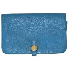 Hermès-Dogon Wallet-Blue
