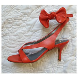 Chloé-Fiesta   nappa sandals-Red,Orange
