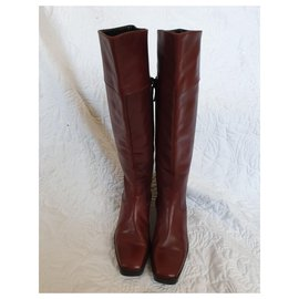 Balenciaga-Knee high boots-Cognac
